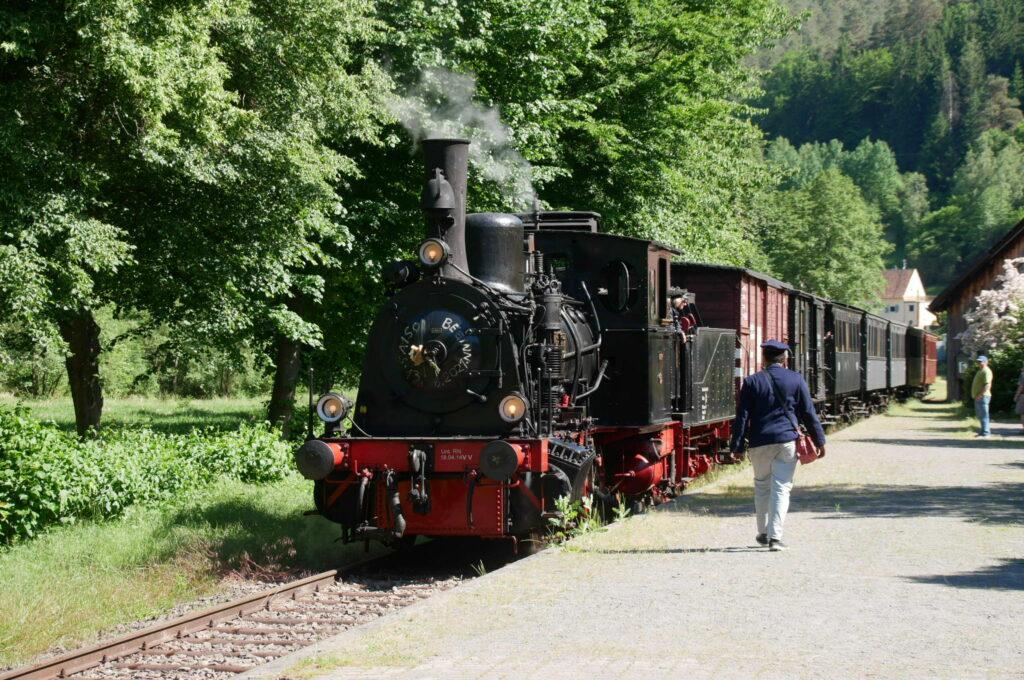 """""""Kuckucksbähnel"""" im Bahnhof von Elmstein"""