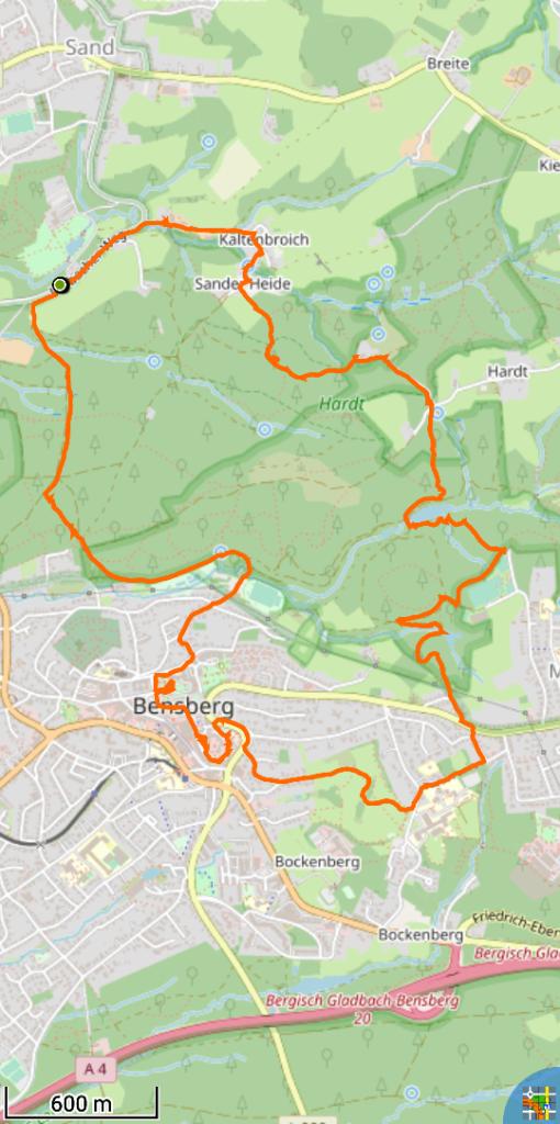 Track des Bensberger Schlosswegs