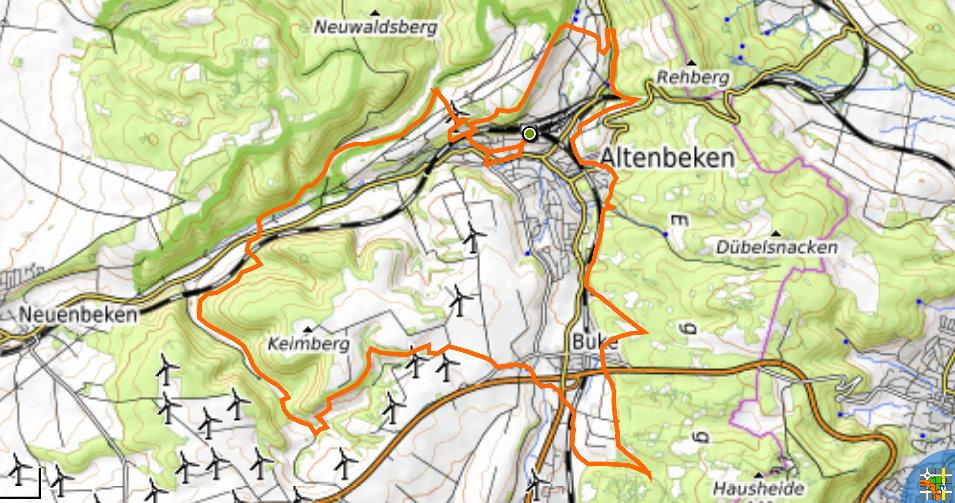 Track des Viadukt-Wanderwegs